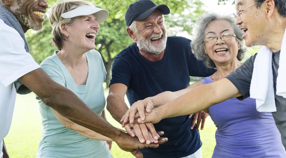 Joyous Multiracial Group